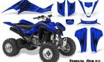 Kawasaki KFX400 03 08 CreatorX Graphics Kit Tribal Bolts Blue 150x90 - Kawasaki KFX 400 Graphics