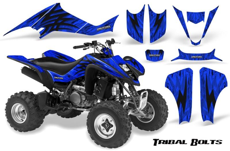 Kawasaki-KFX400-03-08-CreatorX-Graphics-Kit-Tribal-Bolts-Blue