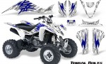 Kawasaki KFX400 03 08 CreatorX Graphics Kit Tribal Bolts Blue White 150x90 - Kawasaki KFX 400 Graphics