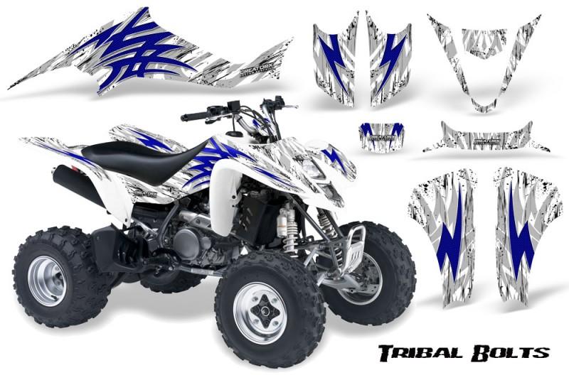 Kawasaki-KFX400-03-08-CreatorX-Graphics-Kit-Tribal-Bolts-Blue-White