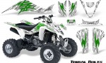 Kawasaki KFX400 03 08 CreatorX Graphics Kit Tribal Bolts Green White 150x90 - Kawasaki KFX 400 Graphics