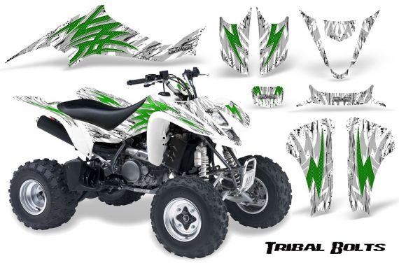 Kawasaki KFX400 03 08 CreatorX Graphics Kit Tribal Bolts Green White 570x376 - Kawasaki KFX 400 Graphics