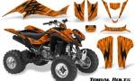 Kawasaki KFX400 03 08 CreatorX Graphics Kit Tribal Bolts Orange BB 150x90 - Kawasaki KFX 400 Graphics