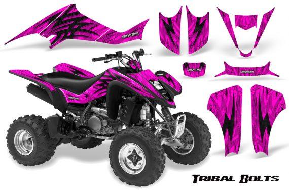 Kawasaki KFX400 03 08 CreatorX Graphics Kit Tribal Bolts Pink 570x376 - Kawasaki KFX 400 Graphics