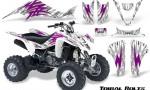 Kawasaki KFX400 03 08 CreatorX Graphics Kit Tribal Bolts Pink White 150x90 - Kawasaki KFX 400 Graphics