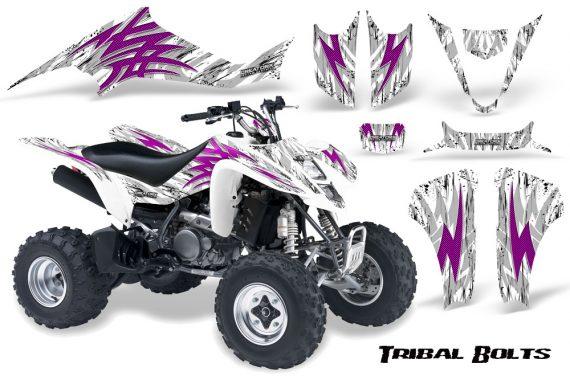 Kawasaki KFX400 03 08 CreatorX Graphics Kit Tribal Bolts Pink White 570x376 - Kawasaki KFX 400 Graphics