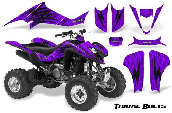 Kawasaki KFX400 03 08 CreatorX Graphics Kit Tribal Bolts Purple 570x376 - Kawasaki KFX 400 Graphics
