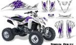 Kawasaki KFX400 03 08 CreatorX Graphics Kit Tribal Bolts Purple White 150x90 - Kawasaki KFX 400 Graphics