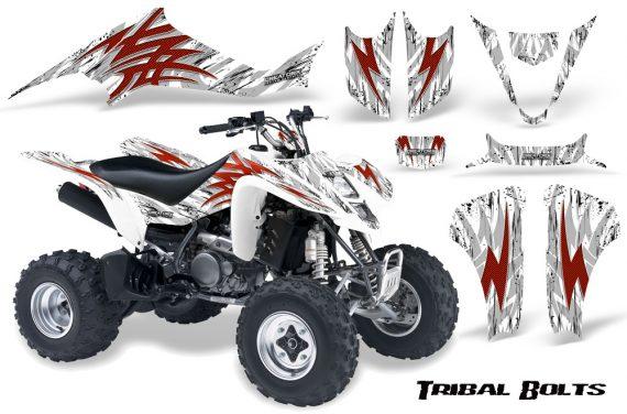 Kawasaki KFX400 03 08 CreatorX Graphics Kit Tribal Bolts Red White 570x376 - Kawasaki KFX 400 Graphics
