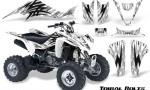 Kawasaki KFX400 03 08 CreatorX Graphics Kit Tribal Bolts White 150x90 - Kawasaki KFX 400 Graphics