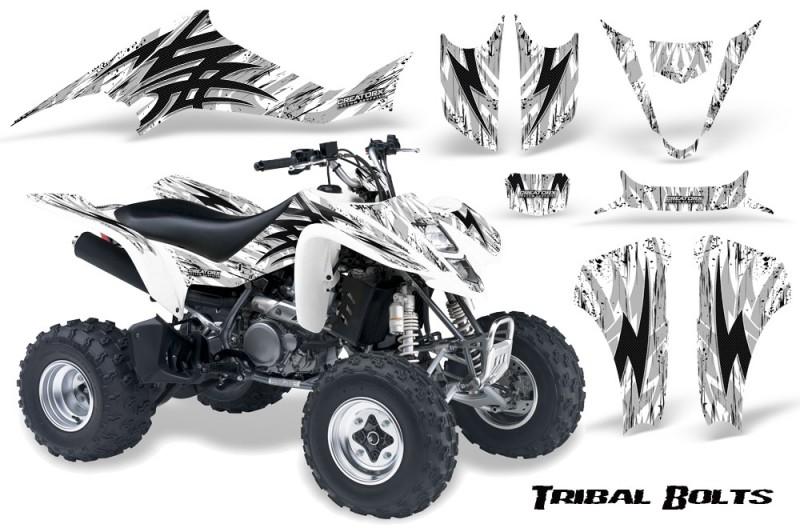 Kawasaki-KFX400-03-08-CreatorX-Graphics-Kit-Tribal-Bolts-White