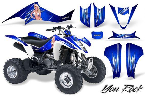 Kawasaki KFX400 03 08 CreatorX Graphics Kit You Rock Blue 570x376 - Kawasaki KFX 400 Graphics