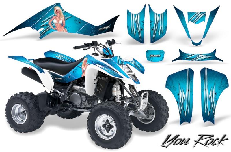 Kawasaki-KFX400-03-08-CreatorX-Graphics-Kit-You-Rock-BlueIce