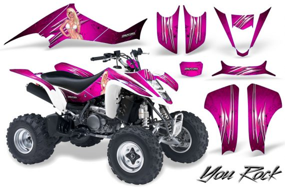 Kawasaki KFX400 03 08 CreatorX Graphics Kit You Rock Pink 570x376 - Kawasaki KFX 400 Graphics