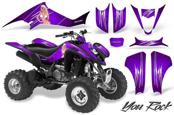 Kawasaki KFX400 03 08 CreatorX Graphics Kit You Rock Purple 570x376 - Kawasaki KFX 400 Graphics