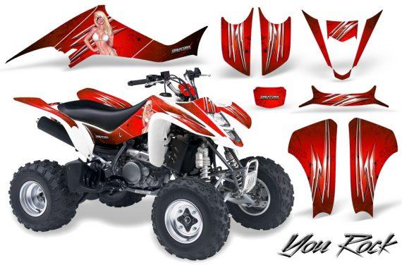 Kawasaki KFX400 03 08 CreatorX Graphics Kit You Rock Red 570x376 - Kawasaki KFX 400 Graphics