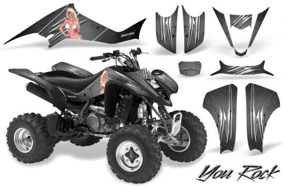 Kawasaki KFX400 03 08 CreatorX Graphics Kit You Rock Silver 570x376 - Kawasaki KFX 400 Graphics