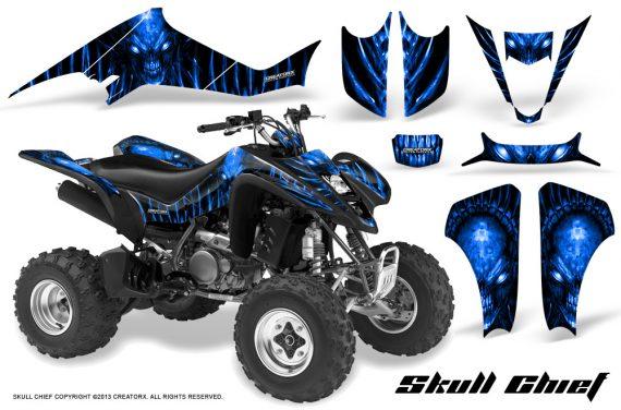 Kawasaki KFX400 03 08 CreatorX Graphics Skull Chief Blue 570x376 - Kawasaki KFX 400 Graphics