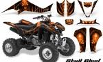 Kawasaki KFX400 03 08 CreatorX Graphics Skull Chief Orange BB 150x90 - Kawasaki KFX 400 Graphics
