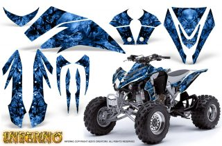 Kawasaki KFX450 CreatorX Graphics Kit Inferno Blue 320x211 - Kawasaki KFX 450 Graphics