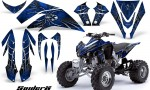 Kawasaki KFX450 CreatorX Graphics Kit SpiderX Blue 150x90 - Kawasaki KFX 450 Graphics