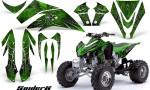 Kawasaki KFX450 CreatorX Graphics Kit SpiderX Green 150x90 - Kawasaki KFX 450 Graphics