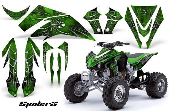 Kawasaki KFX450 CreatorX Graphics Kit SpiderX Green 570x376 - Kawasaki KFX 450 Graphics