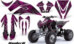 Kawasaki KFX450 CreatorX Graphics Kit SpiderX Pink 150x90 - Kawasaki KFX 450 Graphics