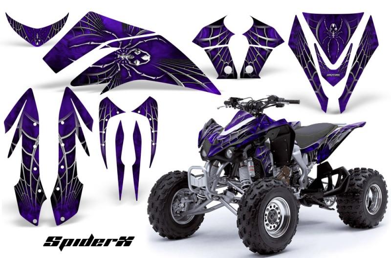 Kawasaki-KFX450-CreatorX-Graphics-Kit-SpiderX-Purple