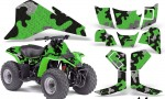 Kawasaki KFX80 AMR Graphics CamoPlate green 150x90 - Kawasaki KFX 80 2003-2006 Graphics
