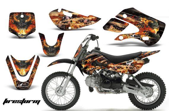 Kawasaki KLX 110 KX 65 00 09 NP AMR Graphic Kit FS B 570x376 - Kawasaki KLX110 2002-2009 Graphics