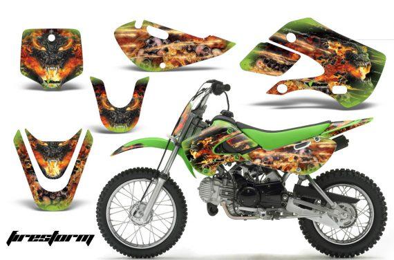 Kawasaki KLX 110 KX 65 00 09 NP AMR Graphic Kit FS G 570x376 - Kawasaki KLX110 2002-2009 Graphics