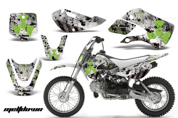 Kawasaki KLX 110 KX 65 00 09 NP AMR Graphic Kit MELDOWN GREEN WHITEBG 570x376 - Kawasaki KLX110 2002-2009 Graphics