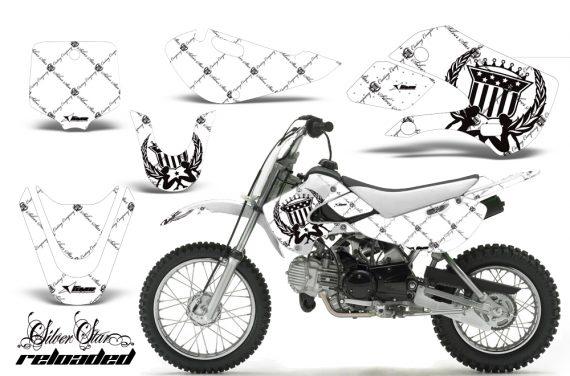 Kawasaki KLX 110 KX 65 00 09 NP AMR Graphic Kit SSR BW 570x376 - Kawasaki KLX110 2002-2009 Graphics
