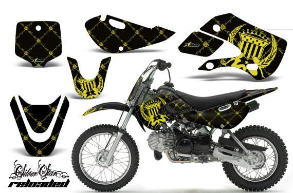 Kawasaki KLX 110 KX 65 00 09 NP AMR Graphic Kit SSR YB 570x376 - Kawasaki KLX110 2002-2009 Graphics
