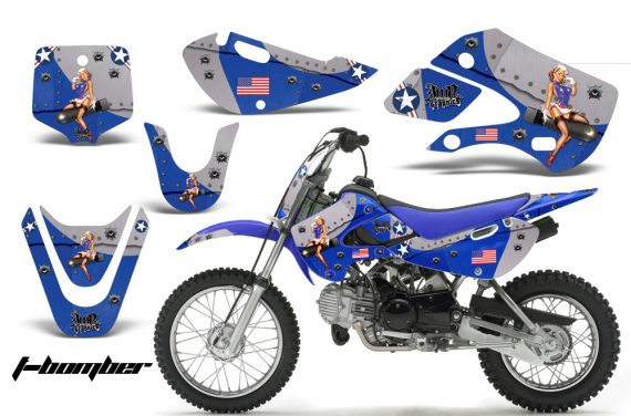 Kawasaki KLX 110 KX 65 00 09 NP AMR Graphic Kit TB BL 570x376 - Kawasaki KLX110 2002-2009 Graphics