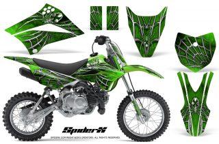 Kawasaki KLX 110L CreatorX Graphics SpiderX Green