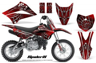 Kawasaki KLX 110L 10 11 CreatorX Graphics Kit SpiderX Red 320x211 - Kawasaki KLX110L 2010-2019 Graphics