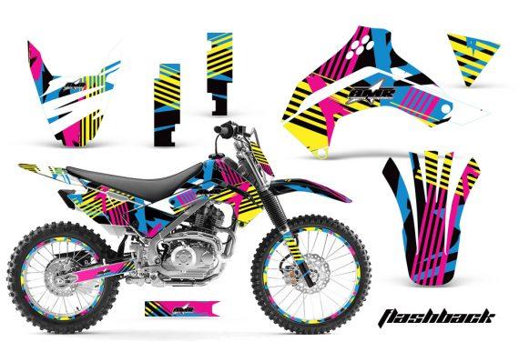 Kawasaki KLX 140 2008 2012 AMR Graphic Kit FLASJBACKNPs 570x376 - Kawasaki KLX140 2008-2017 Graphics