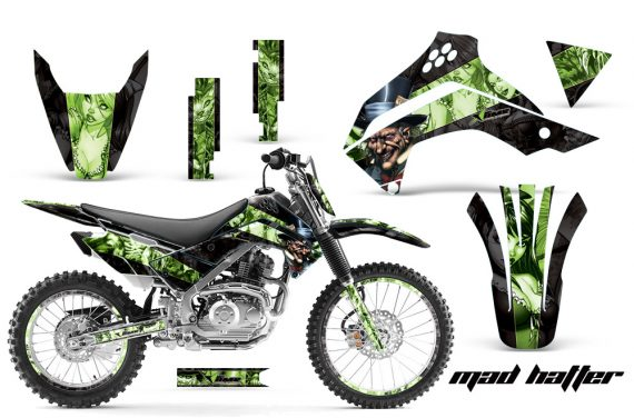 Kawasaki KLX 140 2008 2012 AMR Graphic Kit MadHat BG NPs 570x376 - Kawasaki KLX140 2008-2017 Graphics