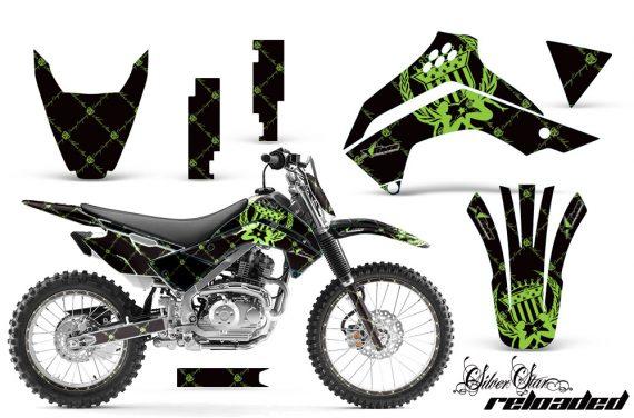 Kawasaki KLX 140 2008 2012 AMR Graphic Kit SSR GB NPs 570x376 - Kawasaki KLX140 2008-2017 Graphics
