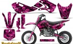 Kawasaki KLX110 02 09 KX65 02 12 CreatorX Graphics Kit Backdraft Pink 150x90 - Kawasaki KX65 2002-2017 Graphics