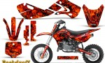 Kawasaki KLX110 02 09 KX65 02 12 CreatorX Graphics Kit Backdraft Red 150x90 - Kawasaki KX65 2002-2017 Graphics