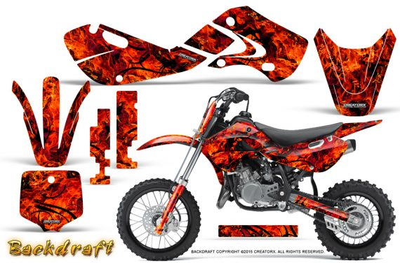Kawasaki KLX110 02 09 KX65 02 12 CreatorX Graphics Kit Backdraft Red 570x376 - Kawasaki KX65 2002-2017 Graphics