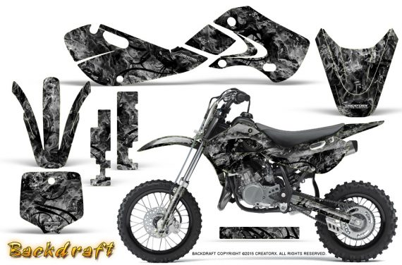 Kawasaki KLX110 02 09 KX65 02 12 CreatorX Graphics Kit Backdraft Silver 570x376 - Kawasaki KX65 2002-2017 Graphics