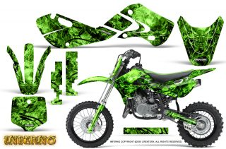 Kawasaki KLX110 02 09 KX65 02 12 CreatorX Graphics Kit Inferno Green 320x211 - Kawasaki KX65 2002-2017 Graphics