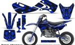 Kawasaki KLX110 02 09 KX65 02 12 CreatorX Graphics Kit Tribal Madness Blue 150x90 - Kawasaki KX65 2002-2017 Graphics