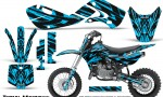 Kawasaki KLX110 02 09 KX65 02 12 CreatorX Graphics Kit Tribal Madness BlueIce 150x90 - Kawasaki KX65 2002-2017 Graphics