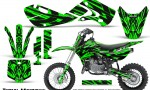 Kawasaki KLX110 02 09 KX65 02 12 CreatorX Graphics Kit Tribal Madness Green 150x90 - Kawasaki KX65 2002-2017 Graphics