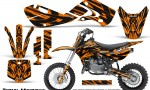 Kawasaki KLX110 02 09 KX65 02 12 CreatorX Graphics Kit Tribal Madness Orange 150x90 - Kawasaki KX65 2002-2017 Graphics